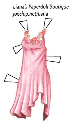 Pink And Red Fairy Dress From Liana S Paperdoll Boutique