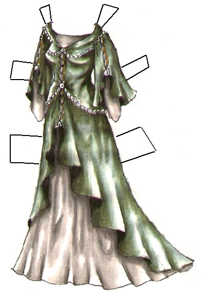 Two Fantasy Princess Gowns From Liana S Paper Doll