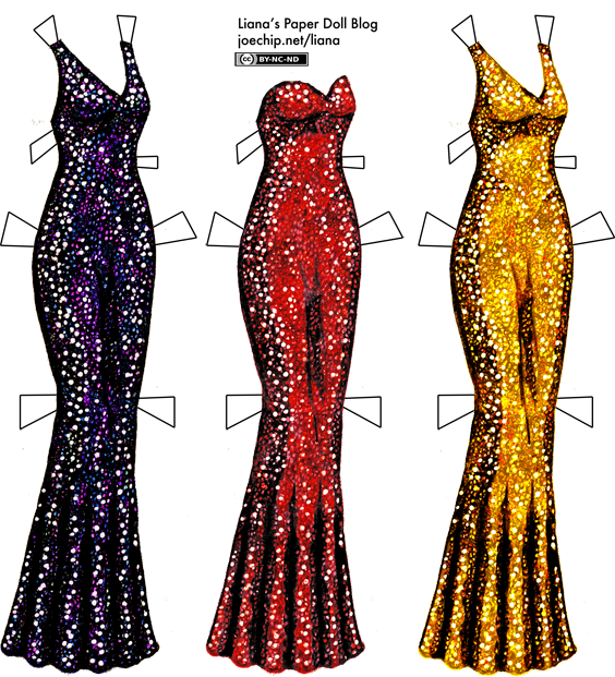 More Recolored Sequined Gowns in Red, Gold and Purple | Liana\'s ...