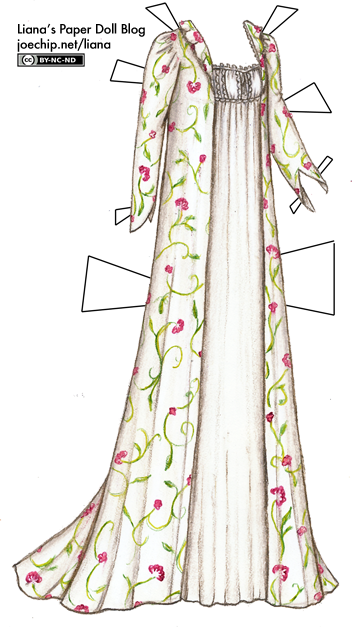 Embroidered Robe And White Nightgown From Romeo Et