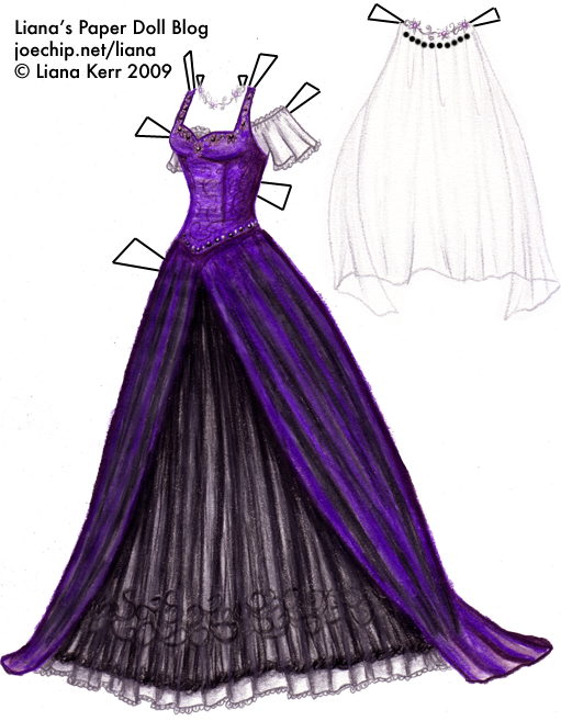 magic wiki dress 1 purple gown with black tulle skirt