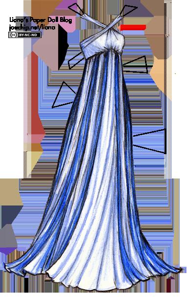 blue empirewaist gown lianas paper dolls