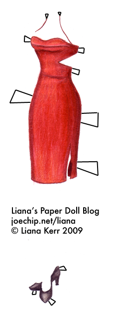 Battlestar galactica six red dress