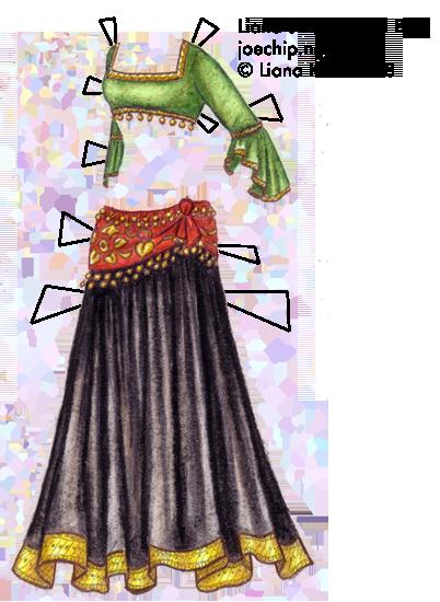 belly dance | Liana\'s Paper Dolls