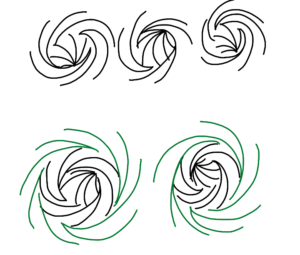 The rosette lines without the guidelines.