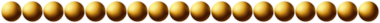 A dotted line with a Photoshop layer style effect that makes the beads look golden.