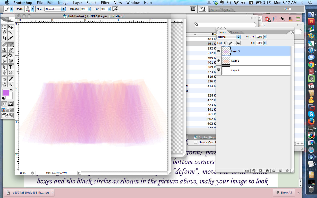 Another stab at tulle; it's starting to look pretty good.